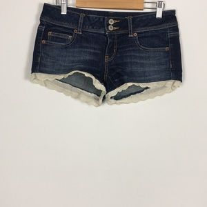 American Eagle Jean Shorts with Lace Trim